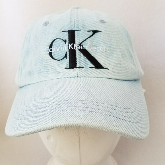 f25a1b0a271 CK Calvin Klein Ice Blue Hat Black Logo New Tags