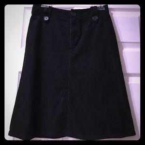 Black H&M corduroy skirt.