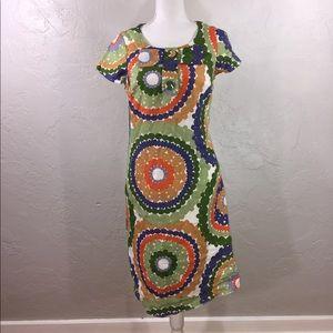 Boden circle print dress