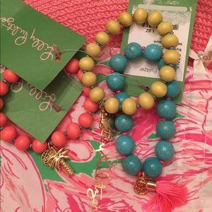 Lilly pulitzer NWT set of three stretch bracelets