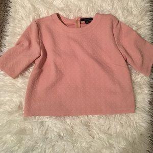 Pink Boxy Crop Top