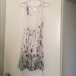 Beautiful white chiffon dress