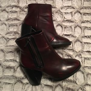 Zara Red Pleather Boots