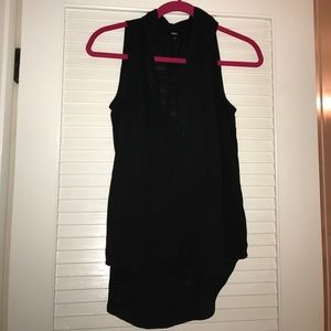 Black button down blouse