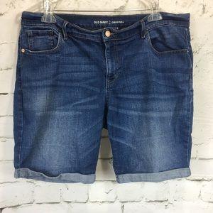 Old Navy Original Bermuda Blue Jean Shorts