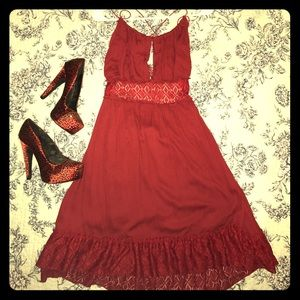 NEW W TAGS Cranberry backless dress, M