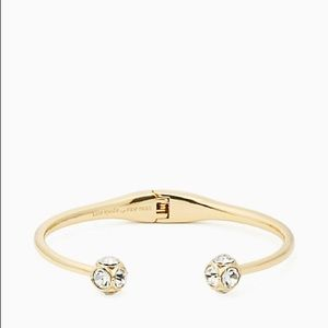 Kate Spade lady marmalade open cuff hinge bracelet
