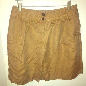 JCrew tan skirt 12