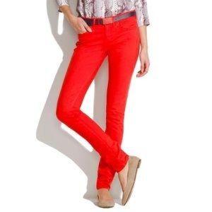 Madewell Skinny Skinny Red Jeans 29x32