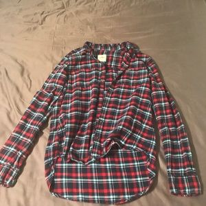 Blue and Red Hollister Flannel