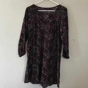 Paisley 3/4 length sleeve dress