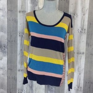 Marc By Marc Jacobs Long Sleeve Multi Color Blouse