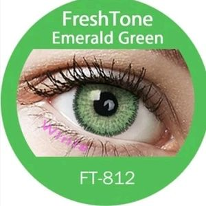 Freshtone Emerald Green Eye Color with FREE Case..