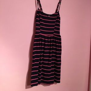 Navy and pink striped xhilaration dress