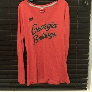 Long sleeved Georgia bulldog Nike shirt.