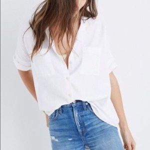 Madewell White Courier Shirt SZ L