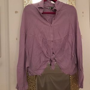 Periwinkle button down with tie!