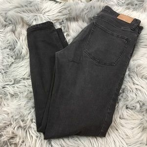 Madewell high riser skinny jean black frost