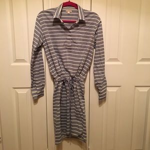 Gap striped cotton shirt dress