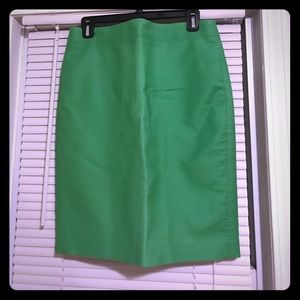 J.Crew No. 2 Pencil Skirt in Lime Cotton