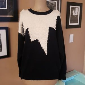 Vntg  1980's Color Cues Sweater with Faux Pearls