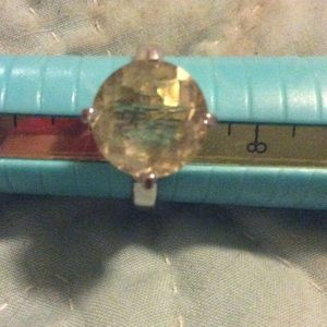 Jewelry - Checkerboard faceted round citrine SS ring