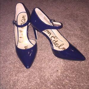 Sam Edelman D'Orsay Ankle Strap Stiletto Sz 5.5