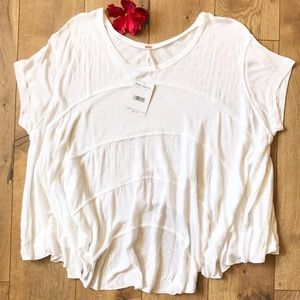 Free People White Lace Tunic Top