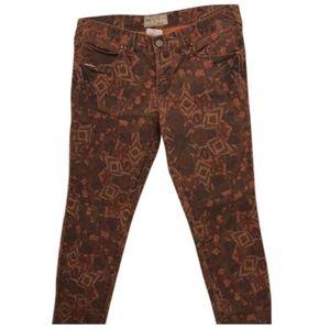 Free People Tribal skinny jeans