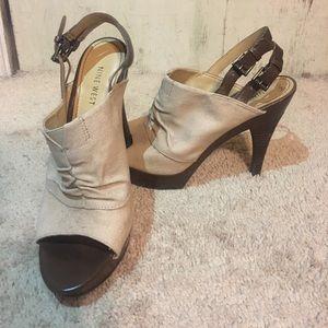Nine West sandals.