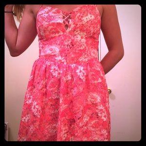 Beautiful Coral Guess Cross Back Dress