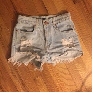Brandy Melville high waist destroyed shorts