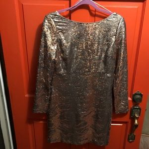 Size 12 Jessica Simpson Long Sleeve Sequin Dress