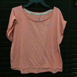 Short sleeved pink Nike shirt