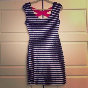 Guess Navy & White Striped mini dress size 2