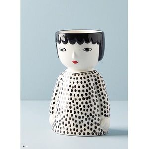 NWT Anthropologie Kinska Face Pot