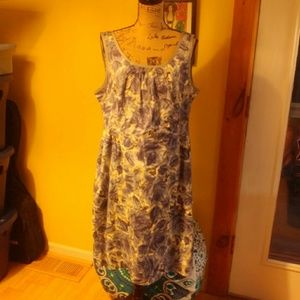 Talbots blue and white floral dress