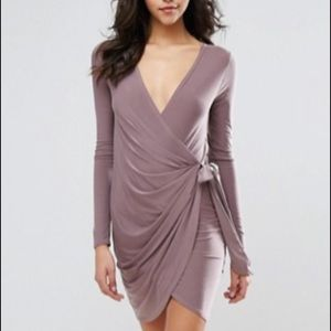 NWT ASOS silk wrap dress