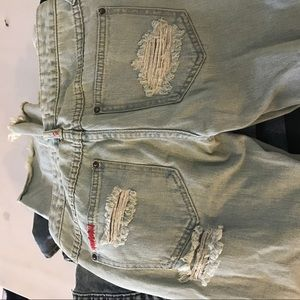 Free people light wash jeans size 24 flare