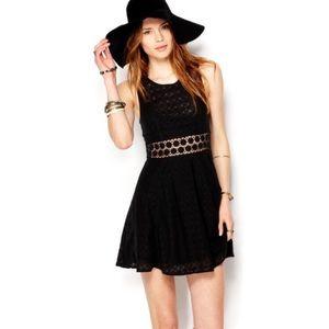 Black FP Daisy Cutout Dress