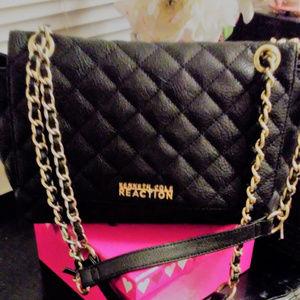 Kenneth Cole Black Quilted Handbag