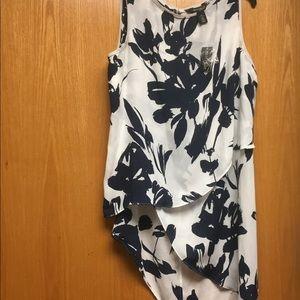 Asymmetrical sleeveless top
