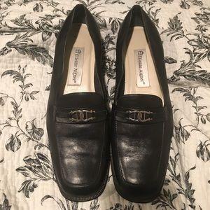 Etienne Aigner leather upper black loafer shorts