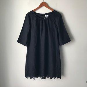 Old Navy black cotton sheath dress