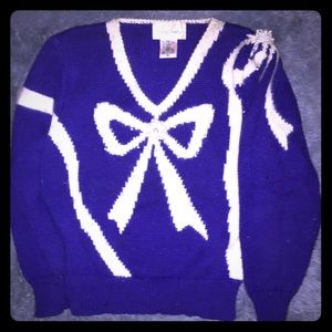 Vintage Jaclyn Smith Purple sweater with Pearls.