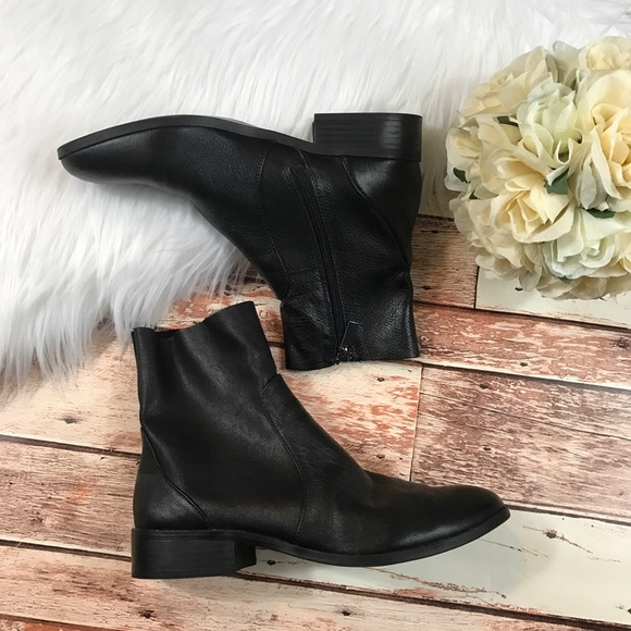 50274acc327 Topshop black Moto leather ankle boots