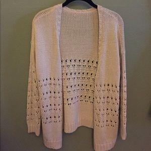 Knitted cream cardigan