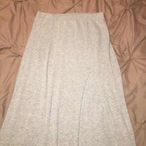 Grey Cotton Maxi Skirt