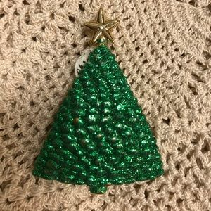 Vintage Jewelry - SINGING Glitter Christmas Tree Pin