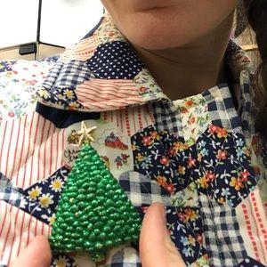 Vintage Jewelry - SINGING Glitter Christmas Tree Pin